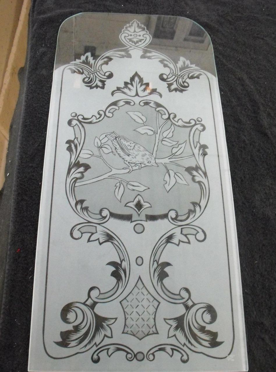 pair of acid etched door panels
