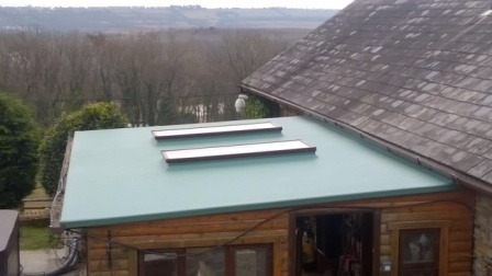 Fibreglass green roof