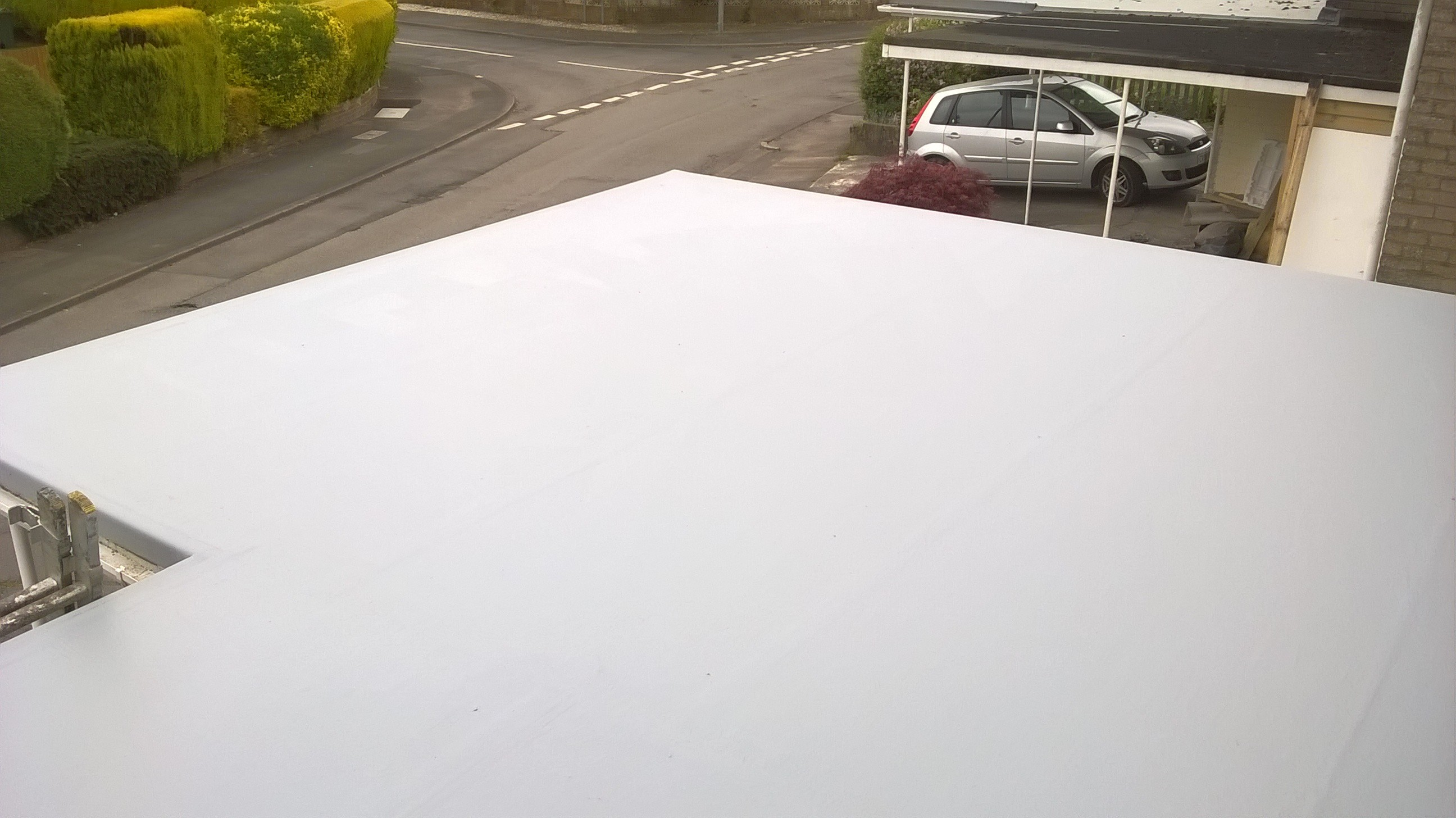 After: Fibreglass roof in Caldicot
