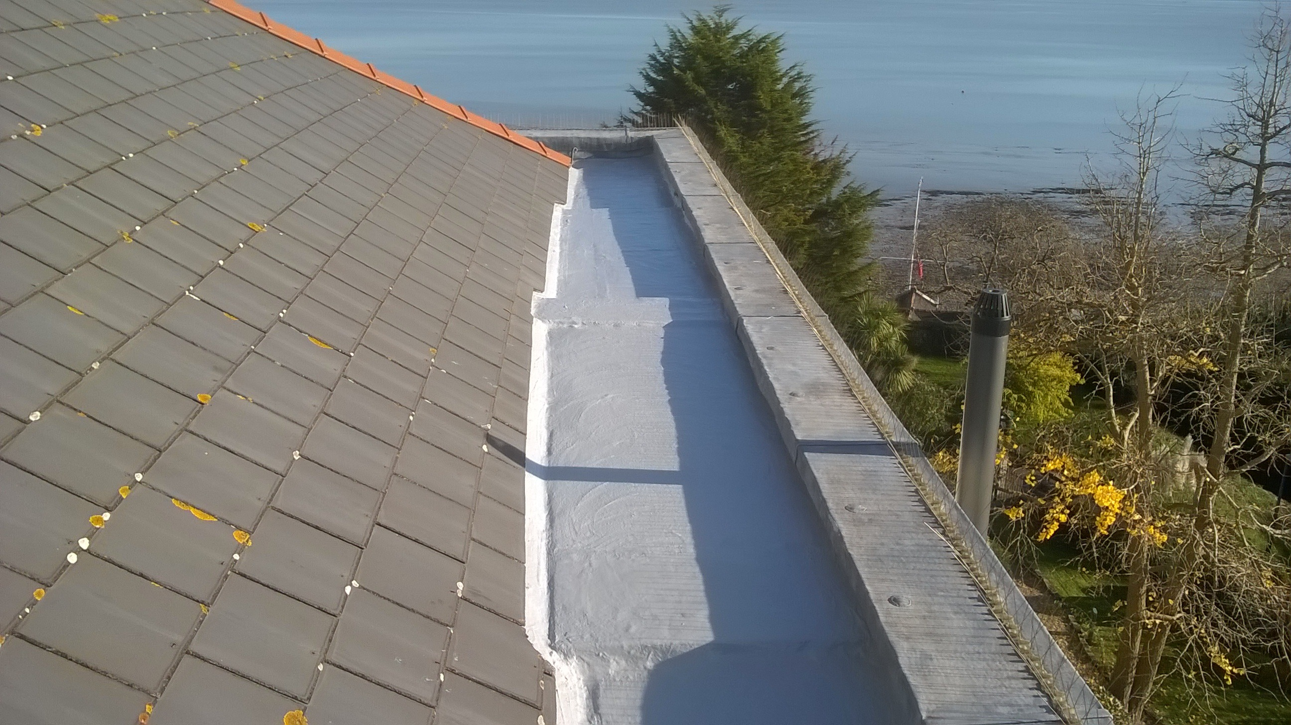 Gutter lining in Penarth South Wales