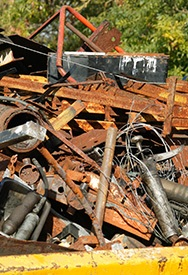 heaps of scrap metal