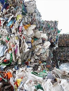 pile of waste in dump site