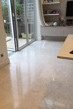 limestone floor polished in London