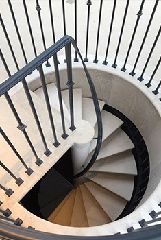 marble stairs polished