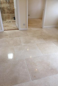 polishing limestone floors