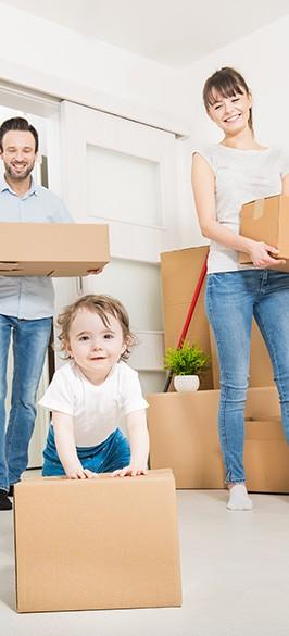 Homebuyer Survey Checklist - family moving into new property