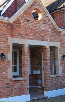 porch extension on residential home