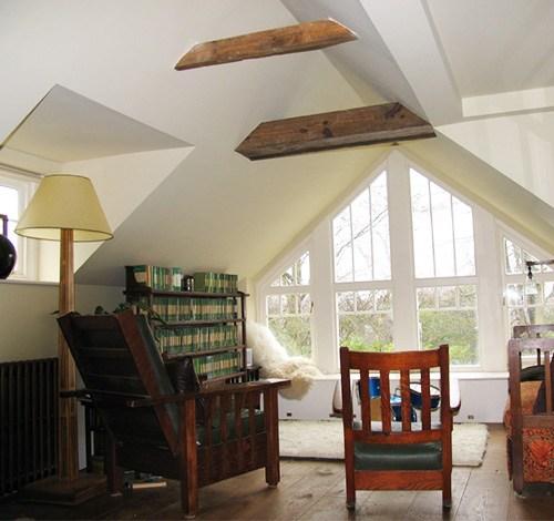 loft convertsion with large apex window