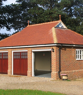 triple garage on country estate