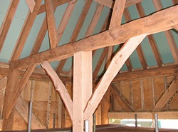 timber frames in barn conversion
