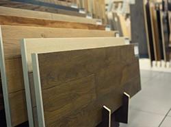 rows of laminated board