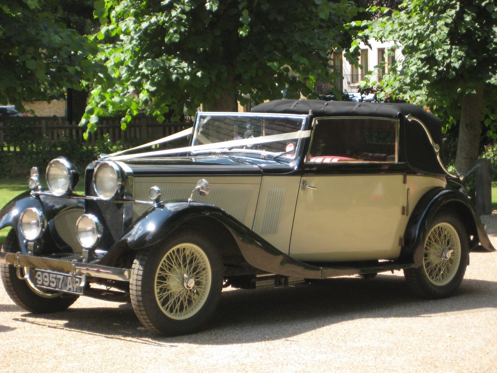 Our Vintage wedding cars to hire: Roesch Talbot Drophead Coupé