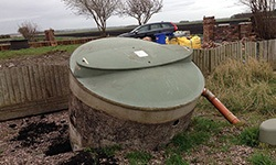 escaping septic tank