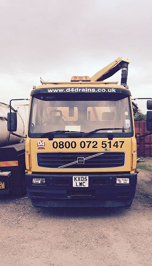 specialist vac tanker with company graphics