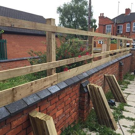 fence installation in progress