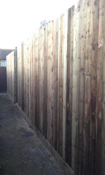 tall closeboard garden fence