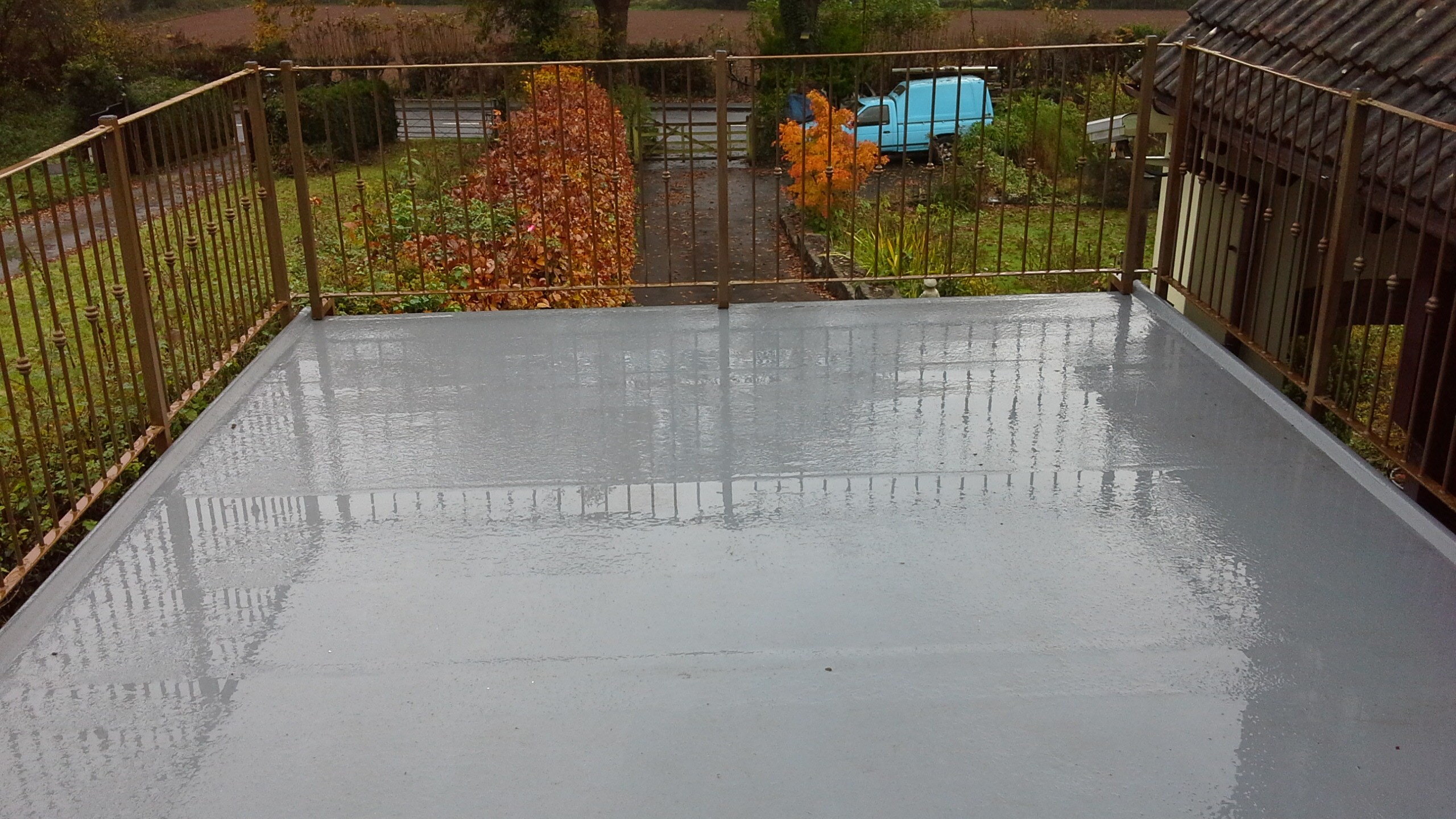 Flat roofing Monmouth with railings fitted