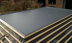Installing a fibreglass flat roof Cardiff
