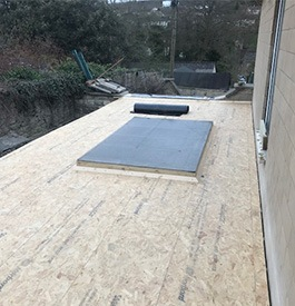 OSB3 for a fibreglass flat roof in Chepstow
