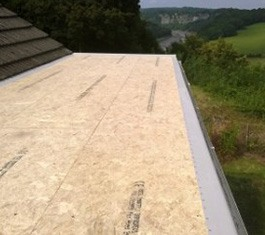 Flat Roofing in Monmouth osb3 decking