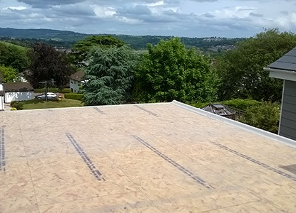 Newport flat roofing in progress