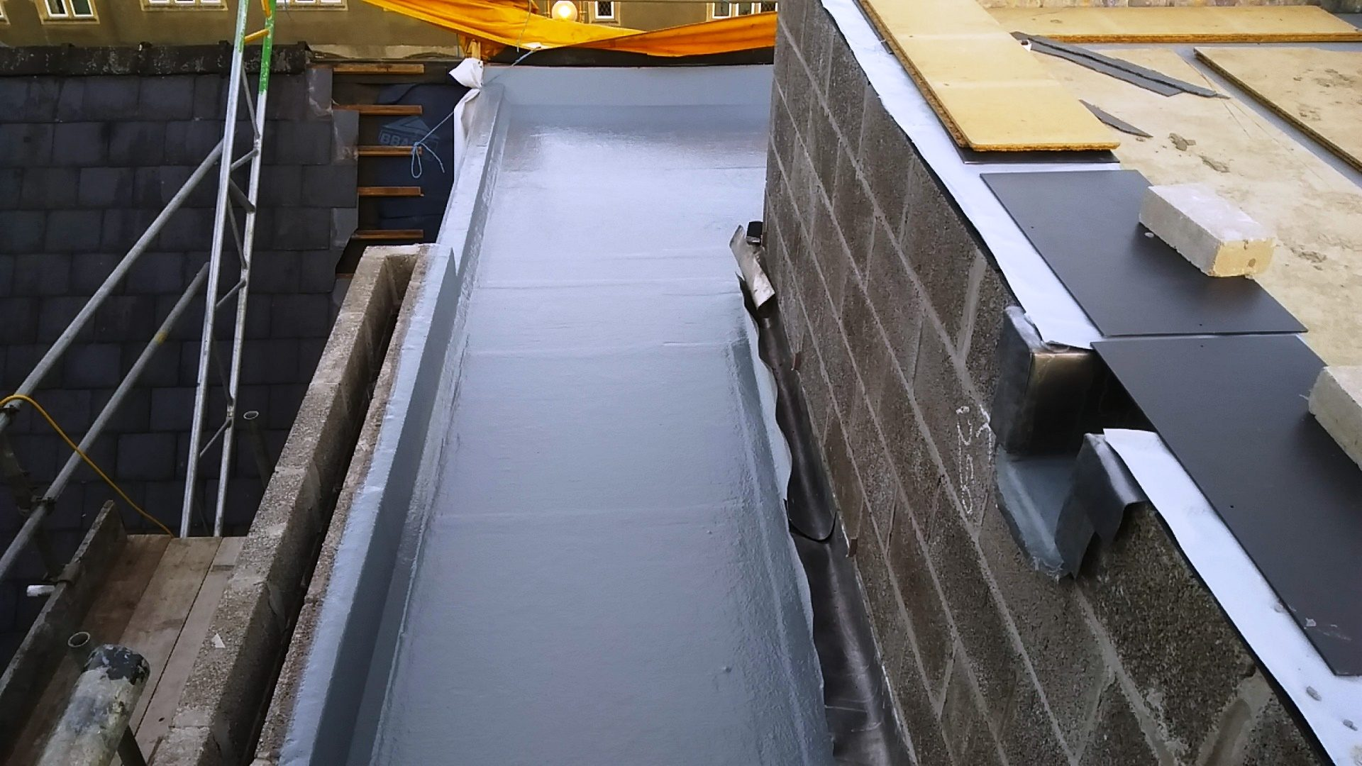 Fibreglass flat roof in Caerleon