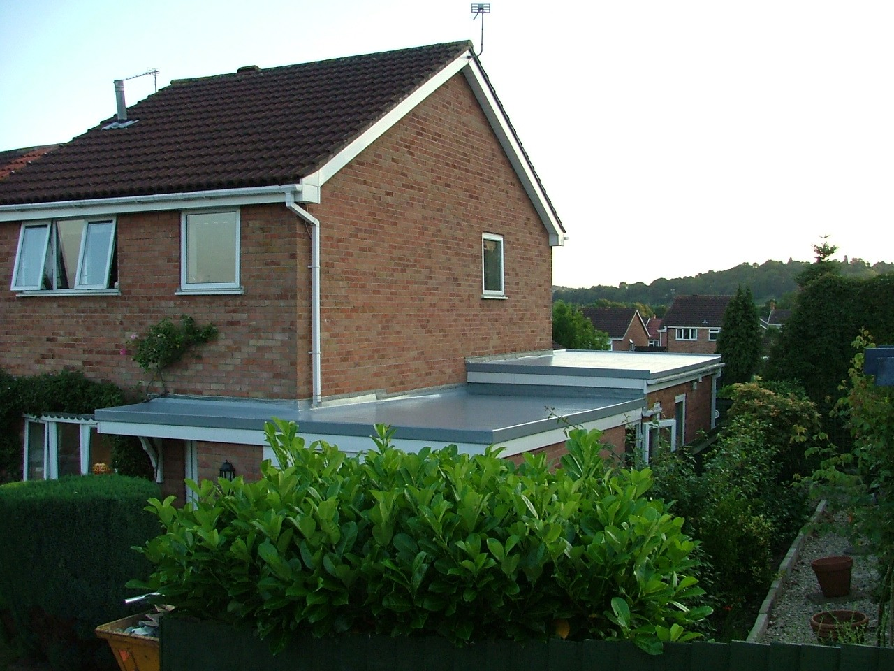 Garage and kitchen flat roof in Caerleon