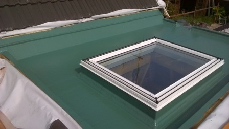 Green Fibreglass roof in Chepstow