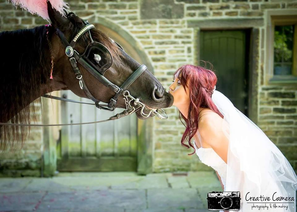 you may now kiss the bride..........