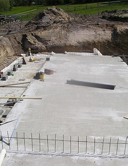 project management work - concrete foundation -construct your house or structure