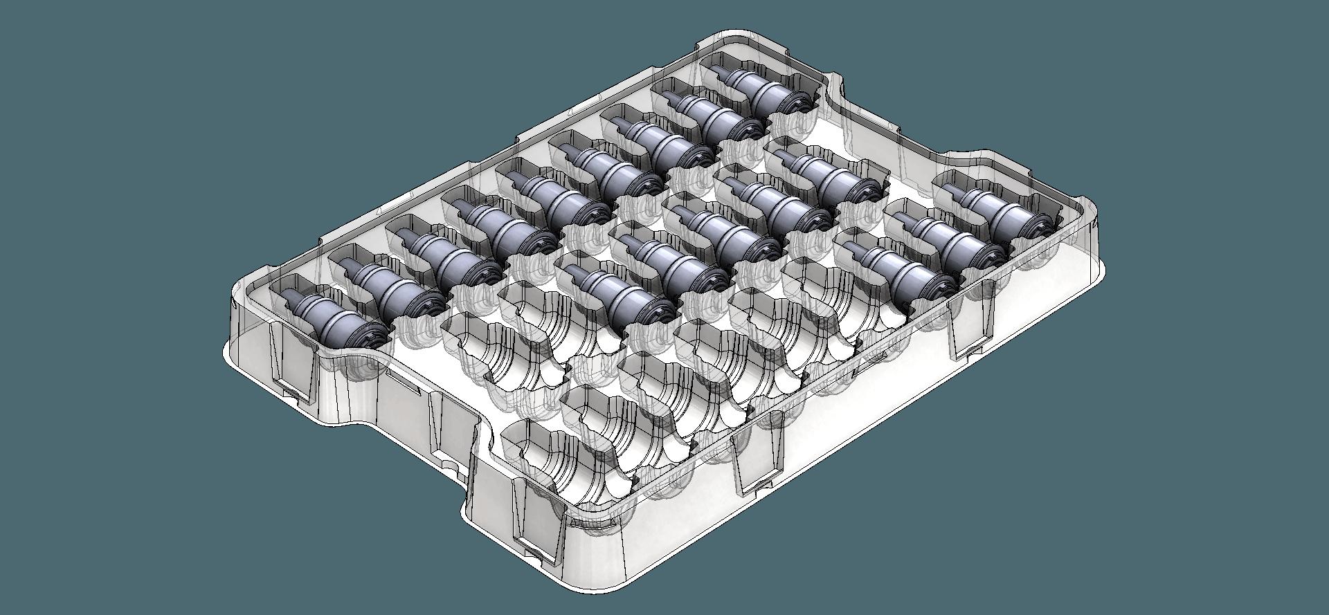 vacuum formed transit tray rendering