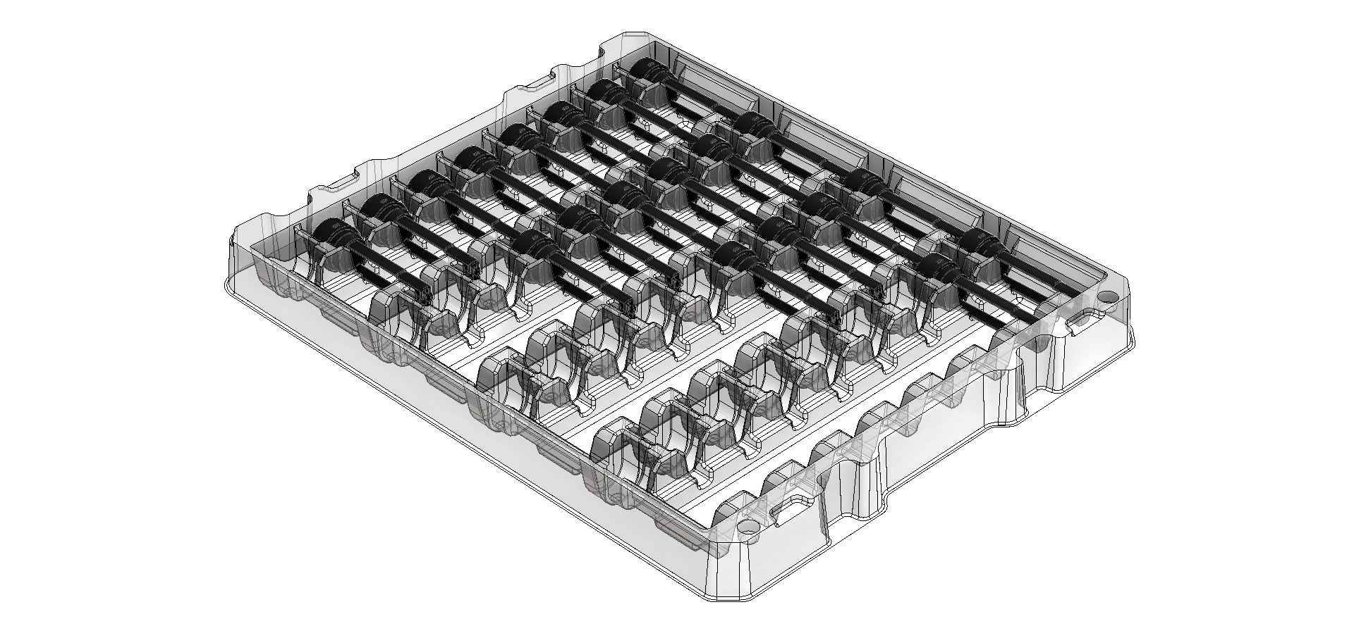 3d rendering of a transit tray