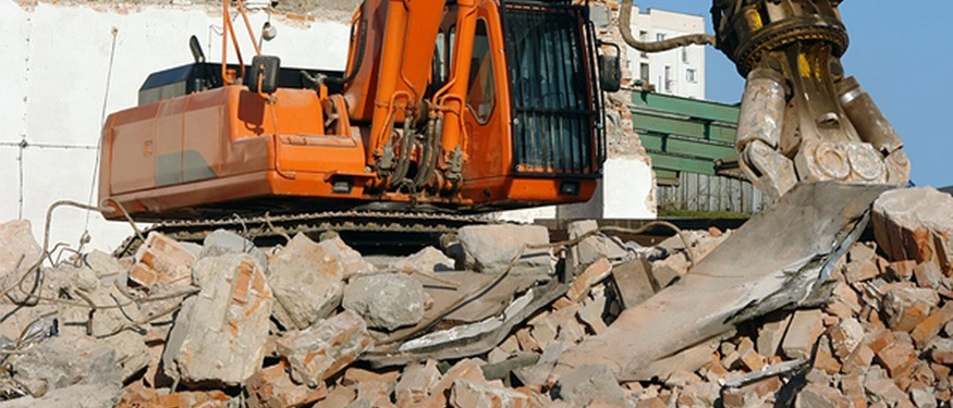 excavating a site for construction clearance