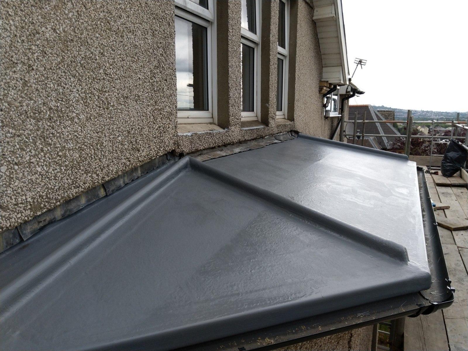 Bay window, imitation lead fibreglass roof