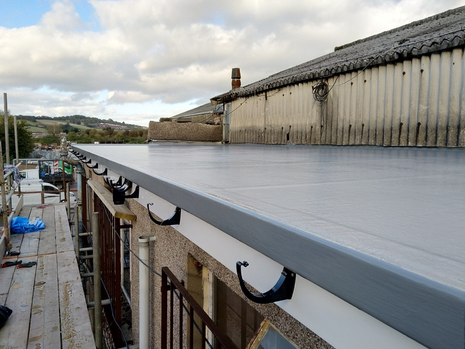 Flat roof in Newport nearly finished.