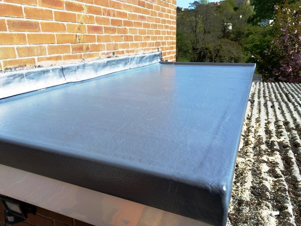 Small Fibreglass flat roof in Caldicot.
