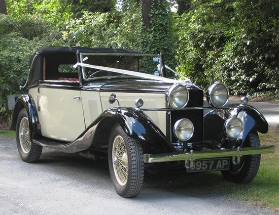vintage roesch talbot wedding car