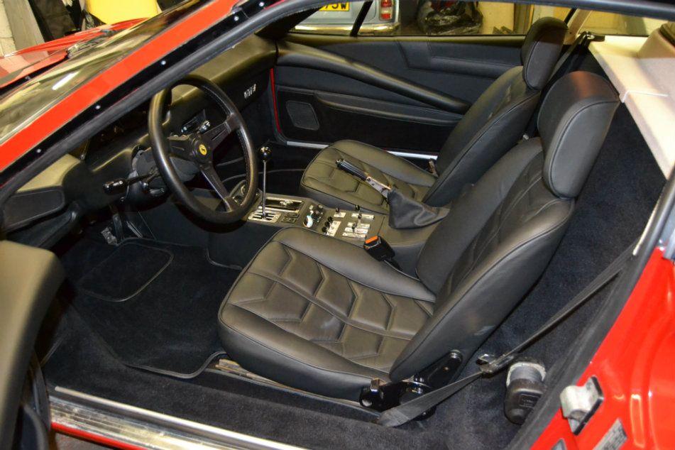 1981 Ferrari 308 Black Leather Full Re-trim