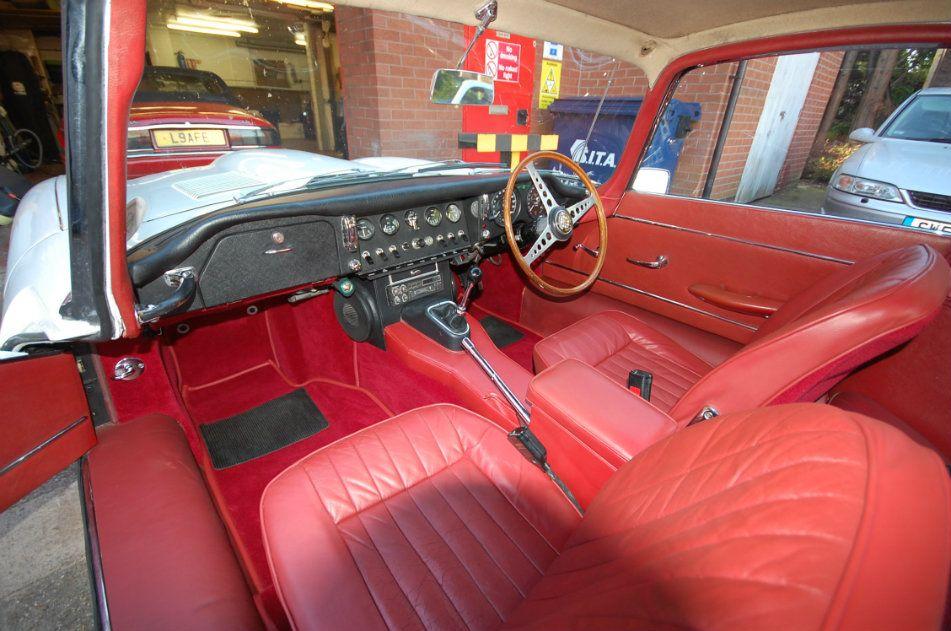 Jaguar Red Leather Sympathetic Restoration