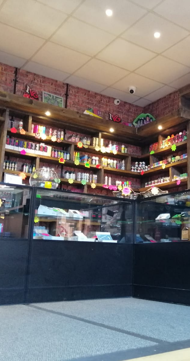 e-cigarettes in vape shop