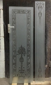 acid etched door panels
