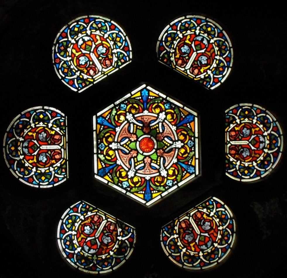 stained glass roof light
