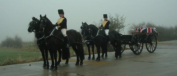 horse drawn hearses