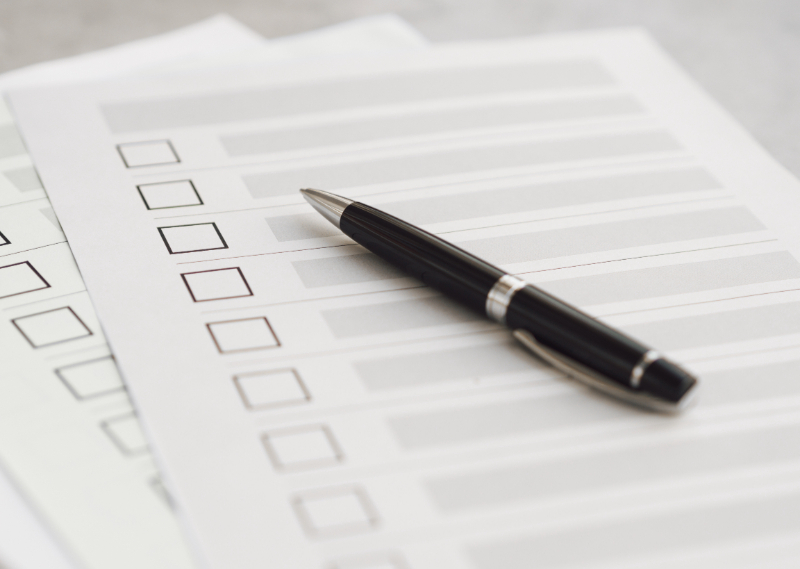 Filling Out A Questionnaire For Architectural Drawings