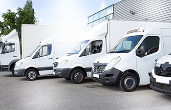 a fleet of vans and trucks for general haulage