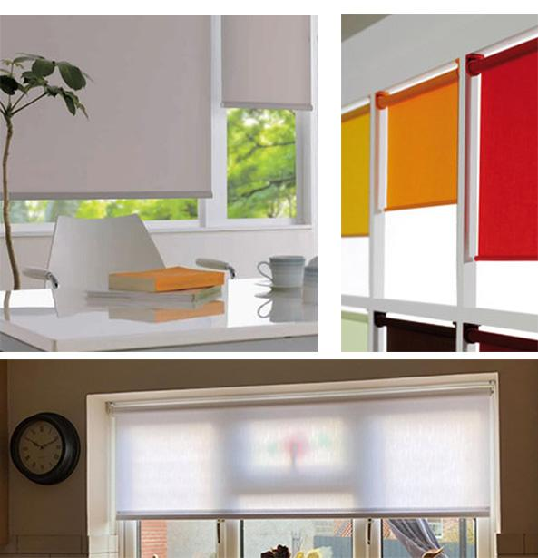roller blinds in a modern room