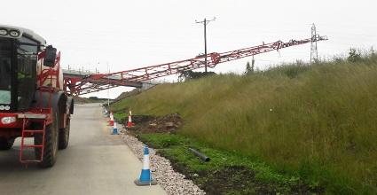 spreading fertiliser on the Aberdeen bypass