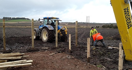 building a timber fence