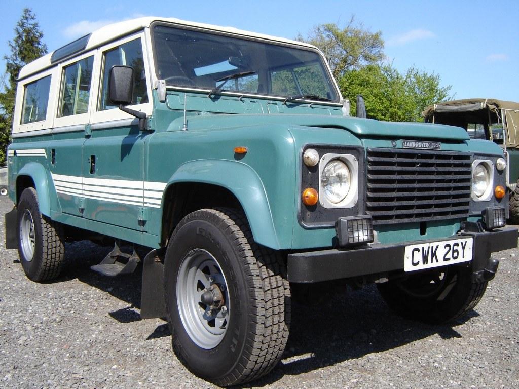 1983 Land Rover 110 in green before refurbishment