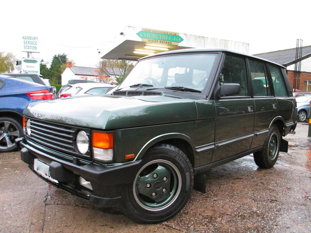 1994 Range Rover Classic soft dash re-sprayed Ardennes Green